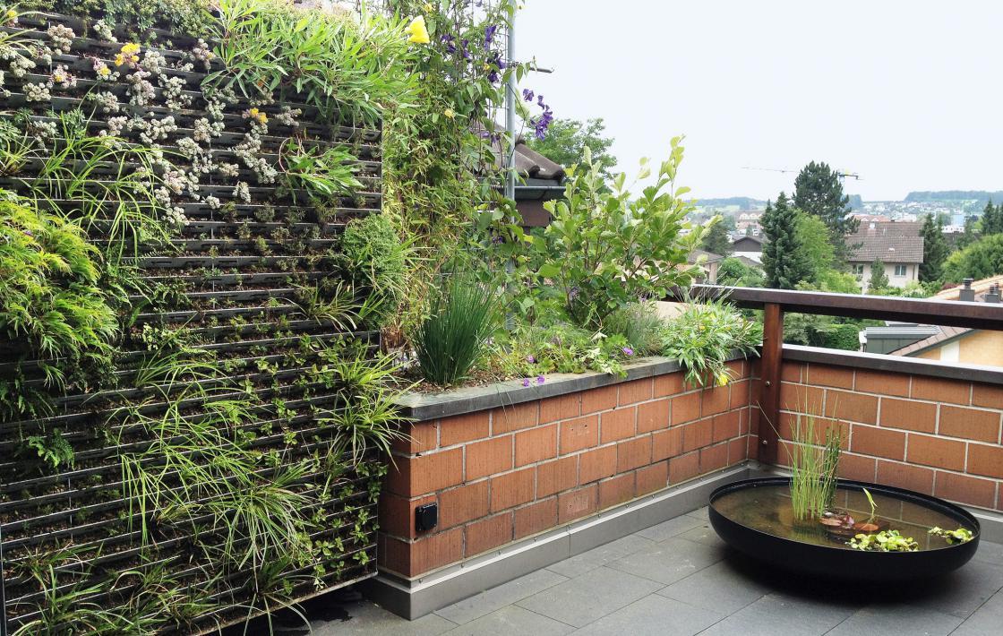 Das grüne Zimmer – Eine Terrasse mit vertikalem Garten